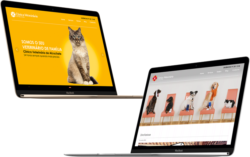 website for clinica veterinaria de alcochete