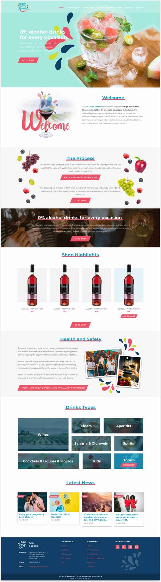 website feliz e sobrio