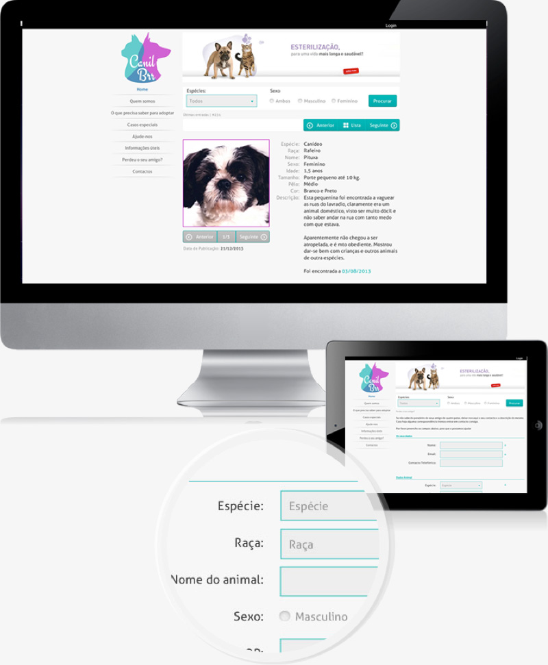 Website proposal to the kennel of Barreiro
