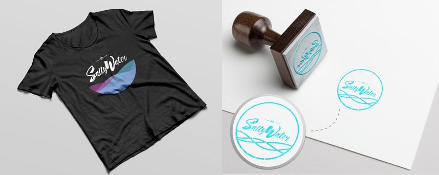 in salty water branding material