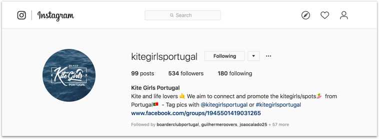 kitegirls portugal instagram
