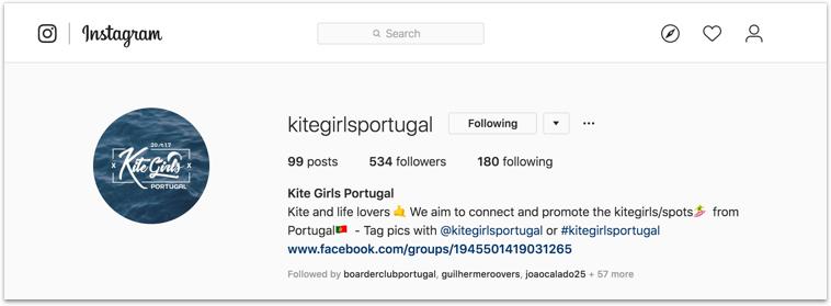 kitegirls portugal instagram