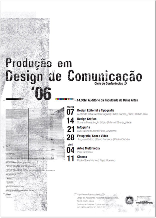 prodution in communication design poster