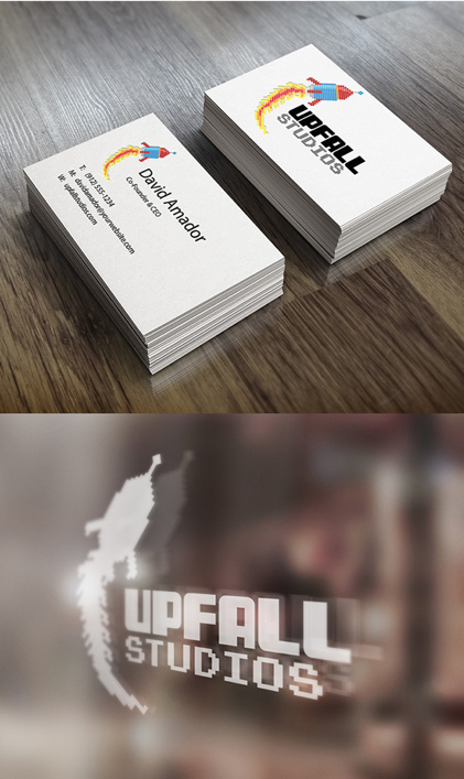 Up Fall Studio Logo and stationary
