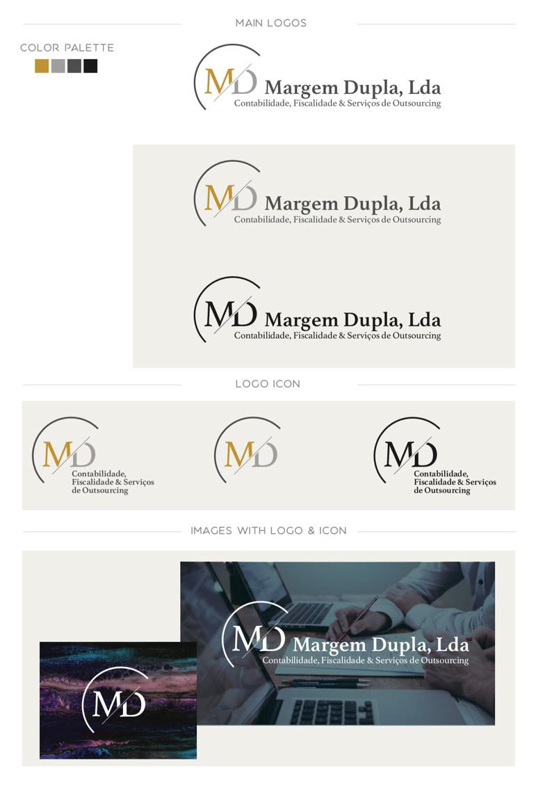 Margem Dupla brand identity